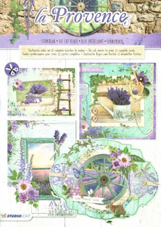 La Provence 3D Die Cut Decoupage A4 Block  By Studio Light